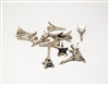 "Eiffel Tower Paris France Mini Charm 2"" Tall 12 Pieces Available in Silver / Black / Bronze"