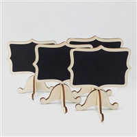 Mini chalk board black board with easel stand Lot of 10pcs