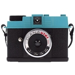 LOMOGRAPHY DIANA MINI CAMERA WITH WITH F+ FLASH (RETRO BLUE/BLACK)