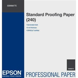 "EPSON STANDARD SEMIMATTE PROOFING PAPER 17""X100' ROLL"