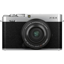 Fujifilm X-E4 Body with XF27mm F2.8 R WR Lens Kit, Silver