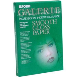 "ILFORD GALERIE SMOOTH GLOSS (17X22"") 50 SHEETS"