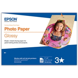 "EPSON GLOSSY PHOTO PAPER 4X6"" (100 SHEETS)"