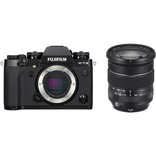 Fujifilm X-T3 with 16-80mm F4 Kit, Black