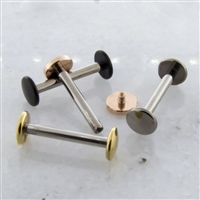 14G 316L STEEL STRAIGHT BARBELL WITH FLAT DISC ENDS