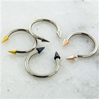 16G 316L STEEL HORSESHOE WITH SPIKE (CONE) ENDS