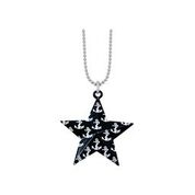 BLACK STAR ANCHOR NECKLACE