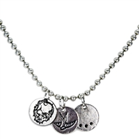 SKULL/SPARROW NECKLACE