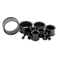 BLACK INTERNALLY THREADED TUNNELS