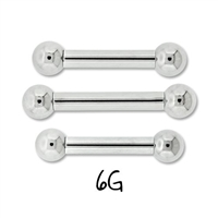 6G INTERNALLY THREADED STEEL BARBELLS