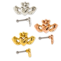 CLADDAGH EAR BARBELL