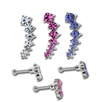 CASCADING GEM EAR BARBELL