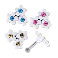 FLOWER EAR BARBELL