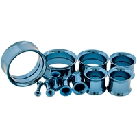 LIGHT BLUE ANODIZED INTERNALLY THREADED TUNNELS