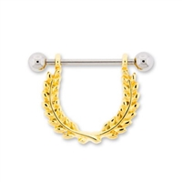 OLIVE BRANCH WREATH NIPPLE STIRRUP