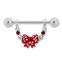 POLKA DOT BOW NIPPLE STIRRUP