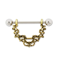 BRONZE FILIGREE NIPPLE STIRRUP