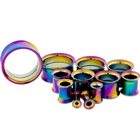 RAINBOW ANODIZED INTERNALLY THREADED TUNNELS