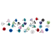10G/12G/14G TITANIUM PRONG SET GEM REPLACEMENT HEADS