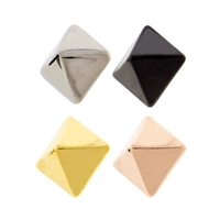 14G PVD COATED TITANIUM PYRAMID STUD REPLACEMENT HEADS
