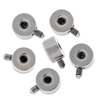 14G 4MM THREADED DISC FOR INTERNALLY THREADED JEWELRY