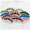 TITANIUM THREADLESS OPAL CRECENT CLUSTER