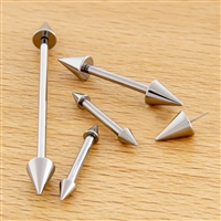 10G THREADLESS ASTM F136 TITANIUM BARBELL WITH CONE