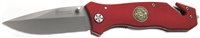 Red Handle Boker Magnum Fire Department Knife