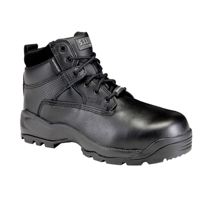 "Black 5.11 ATAC 6"" Shield Side-Zip ASTM Boot"