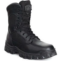 Black Rocky AlphaForce Zipper Waterproof Duty Boot