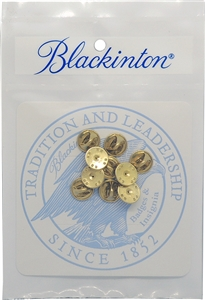 Blackinton Prepackaged Clutch Backs, 10-Pack