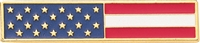 Blackinton Red, White, & Blue Flag Bar w/ Gold Trim