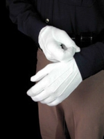 Premier Emblem Nylon Stretch Gloves, White