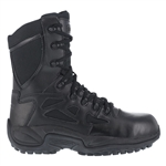 "Reebok Rapid Response RB Stealth 8"" Women's Side Zip Boot"