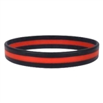 Rothco Silicone Thin Red Line Bracelet