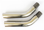 1970 Exhaust Tips in Stainless Steel for Firebird Formula and Trans Am