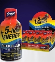 5 Hour Energy Grape Shot 12/59ml Sugg Ret $4.69 ***ON SALE 2 FOR $8.00***