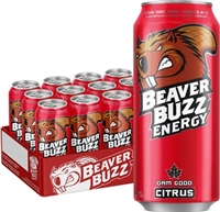 Beaver Buzz Citrus 12/473ml Sugg Ret $3.79***ON SALE 2 FOR $6.00***