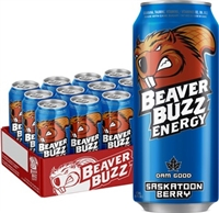 Beaver Buzz Saskatoon Berry 12/473ml Sugg Ret$3.79 ***ON SALE 2 FOR $6.00***