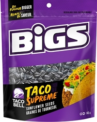 Bigs Sunflower Seeds Taco Bell Supreme 8/140 Sugg Ret $2.99