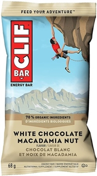 Clif White Chocolate Macadamia Bar 12/68g Sugg Ret $2.39