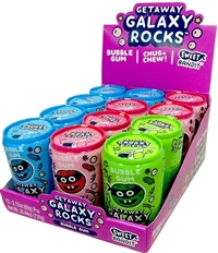 Getaway Galaxy Rocks Bubble Gum 12/60g Sugg Ret $2.49