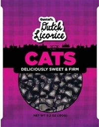 Gustaf's Licorice Cats 12/150g Sugg Ret $3.99