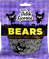Gustaf's Sugared Licorice Bears 12/150g Sugg Ret $3.99