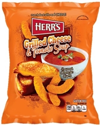 Herr's Baked Grilled Cheese and Tomato Soup Cheese Curls 9/184g Sugg Ret $5.49