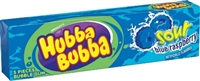 Hubba Bubba Gum Sour Blue Raspberry 18/pack Sugg Ret $1.49