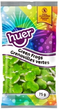 Huer 75g Green Frogs 12/75g Sugg Ret $1.49