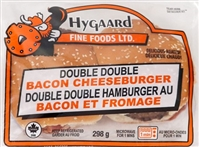 Hygaard Double Double Bacon Cheese Burger 1/334g Sugg Ret $12.39
