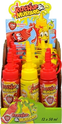 Ketchup & Mustard Candy 12/50g Sugg Ret $1.89