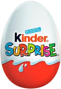 Chocolate Kinder Eggs With Surprise Original  24/20g Sugg Ret $2.19